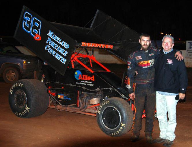 driver Kyle Denmeyer with sponsor MPC representative