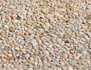 close-up shot of exposed aggregate concrete