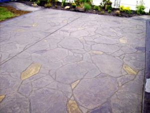 graystone stained and stamped concrete
