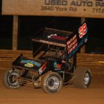 Denmeyer racing car under lights